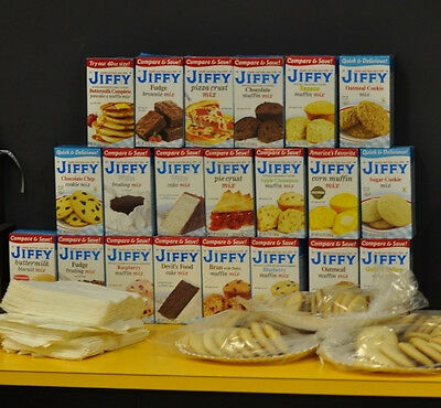 Jiffy Mix Muffin Vegetarian Frosting Pizza Cake Pie Corn Brownie Mix--2, 4, or 6
