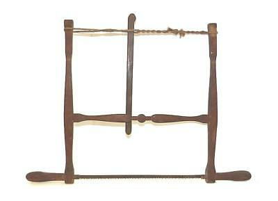 Beautiful & Usable Mid-19Th Century Birch Frame Saw - Maine - Great Surface