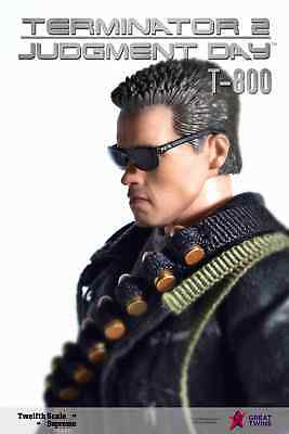 Pre-order GREAT TWINS 1/12 Scale T-800 Terminator 2 6in Figure Judgement Day