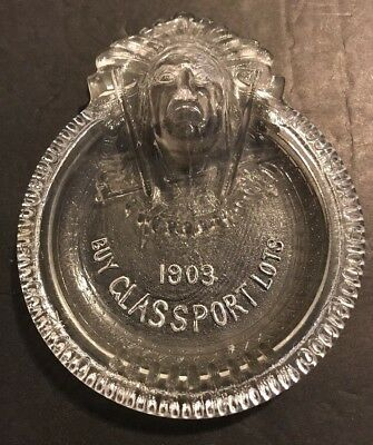 Antique Glass Tip Tray - Buy Glassport Lots 1903 - Indian Chief Advertising