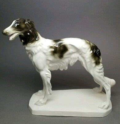 RARE Early VINTAGE HERTWIG / KATZHUTTE BORZOI Wolfhound Standing Dog German