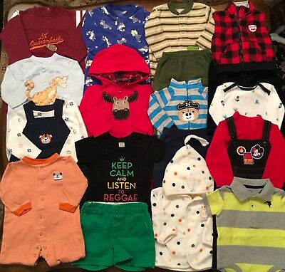 Lot Of Baby Boy Winter Clothes Size 6M 6-9M