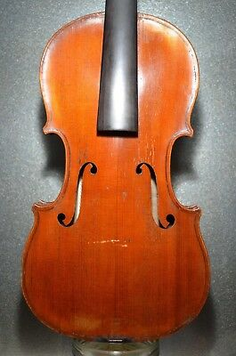 Old French violin labelled LUCIEN SCHMITT 1938