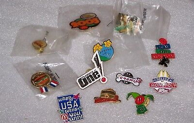McDonalds Collectible Crew Pins Lot of 12