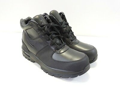 Nike Mens Air Max ACG Goaterra Black Leather Ankle Boot 365970-090 RARE Sz 10.5