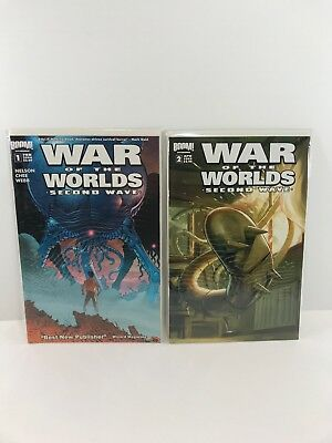 War of the Worlds Second Wave, 2-Comic Book Lot, 1B & 2, Boom! Studios 2006