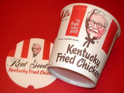 VINTAGE 1969 KENTUCKY FRIED CHICKEN Bucket w Lid OLd Store Stock NOS MINT Unused