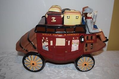 Wells Fargo & Company Stage Coach U.S. Mail Western Cookie Jar Container 2016