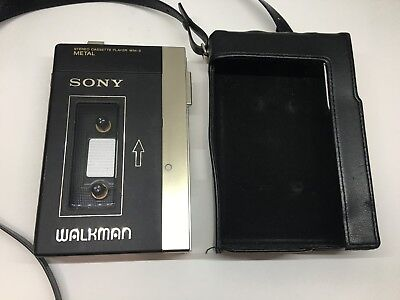 SONY WALKMAN WM-3 Metal Stereo Cassette Player Vintage