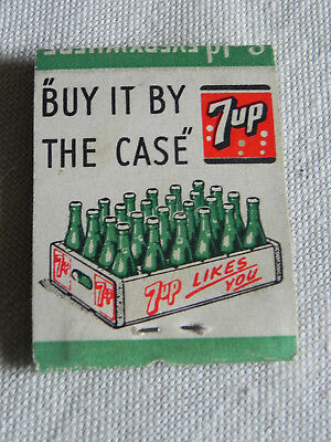 7-Up Matchbook Fresh Up Buy It By The Case 1940/50s