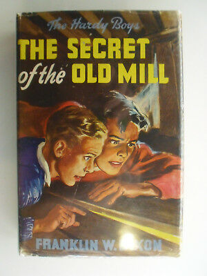 Hardy Boys #3, The Secret of the Old Mill, DJ, 1940s Edition