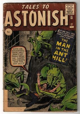 Marvel comics TALES TO ASTONISH 27 2.0 G 1st App ANT-MAN Pym GIANT MAN AVENGERS