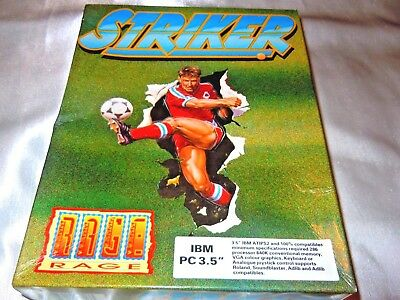 STRIKER by Rage software VINTAGE Original UK BOXED FLOPPY DISK GAME