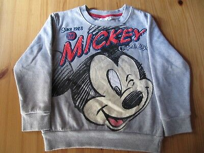 2 Pullover Pulli Shirt Jungen grau Mickey Mouse/Garfield Gr. 110/116 TOP!!!