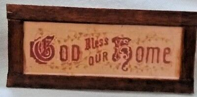 Dolls House God Bless this Home sign