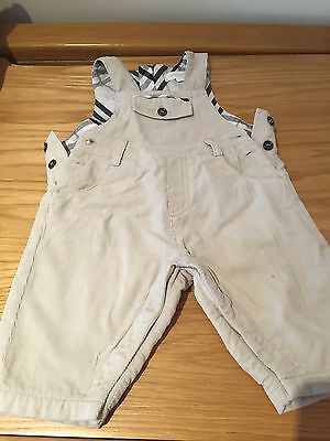 Burberry Baby Dungaree 3 Months With Checked Lining Little Pocket