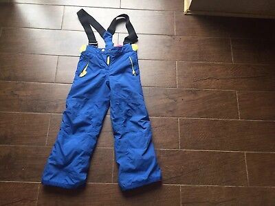 Mini Boden Blue ,Yellow Pink Girls Ski Salopettes All weather trousers Age 5/6