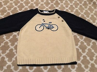 Janie And Jack Bicycle Sweater 2t Boys Pullover