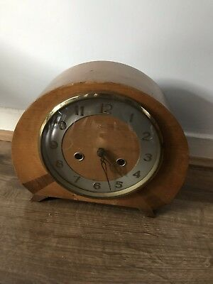 Antique Smiths Enfield Mantel Clock 1950's Chimes Every 30 To Hour Rare Clock