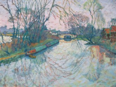 Jean Young (1914-1995) FINE POST IMPRESSIONIST Oil Painting GRAND UNION CANAL