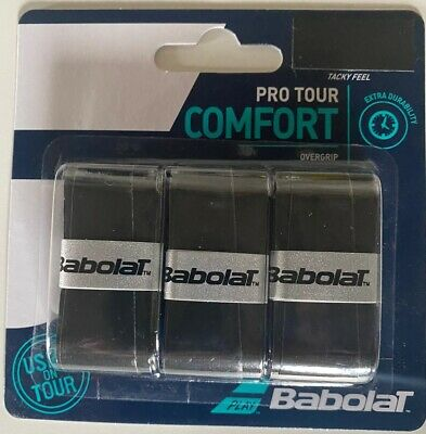 Babolat Pro Tour Tennis Overgrip 3 Per Pack Black White Yellow Color