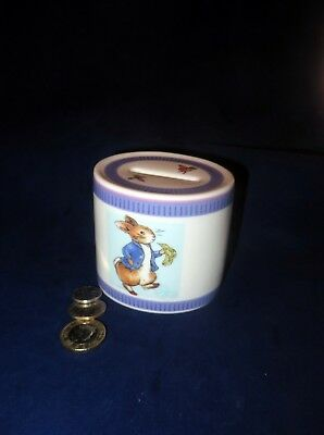 Vintage Peter Rabbit Beatrix Potter Wedgwood Money Box Christening 1st Birthday