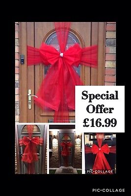 Luxury Traditional Christmas Door Bow /& Door Wrap kit Red /& Gold mix £16.99 WOW