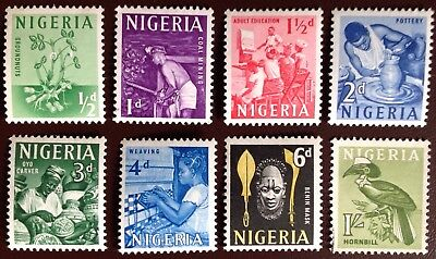 Nigeria 1961 Definitive Set to 1s MLH