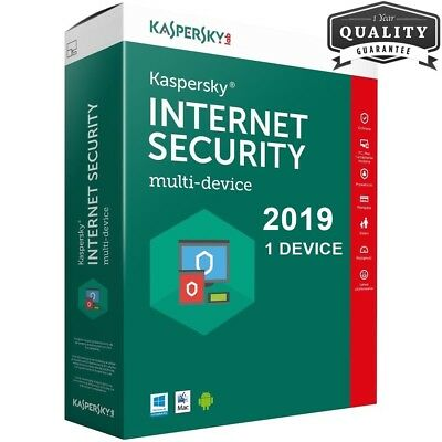 Kaspersky Internet Security 2019 1 Device (Pc / Mac / Android) 360 Giorni ESD