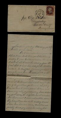 209th Pennsylvania Infantry CIVIL WAR LETTER - On the March near Petersburg, VA!