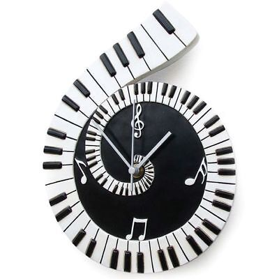 Hot House Designs Piano Scroll Decorative Wall Clock