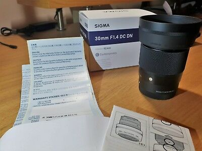 Sigma 30mm 1.4 Sony Emount DC DN MINT Condition Boxed
