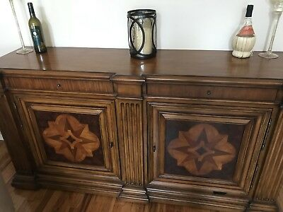 ethan allen marquetry sideboard