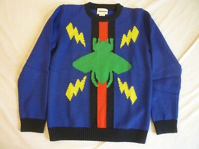 GUCCI Intarsia Wool Sweater Kids 8 $350 Made In Italy Nice Condition FREE SHIP