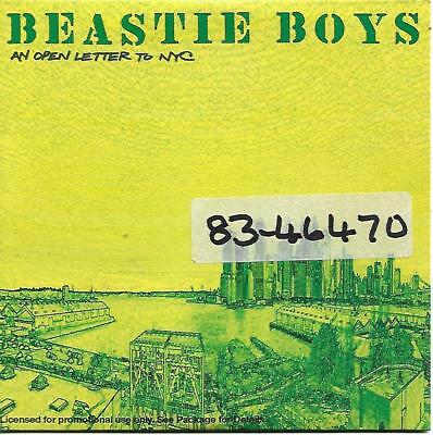 Beastie Boys An Open Letter To NYC 4-track promo CD (2004)
