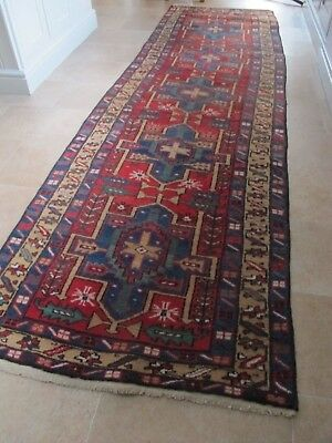 Antique  Hand Knotted Eastern rug Long Runner circa 1900's 3.2 mts hall