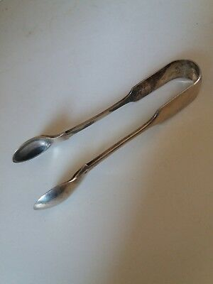 Hallmarked Sugar Tongs  Foreign ?   Please Read