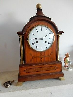 A Good French Mahogany & Satinwood Bracket/Mantel Clock by Jacquier  Paris c1870