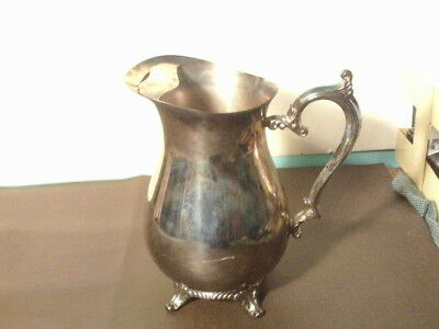 Vintage Silverplate William Rogers Silverplate 817 Ice Lip Water Pitcher