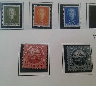 Netherlands stamps 1949 MH