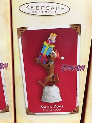 Hallmark 2004 Scooby Doo Santa Paws Ornament Tv Cartoon Dog