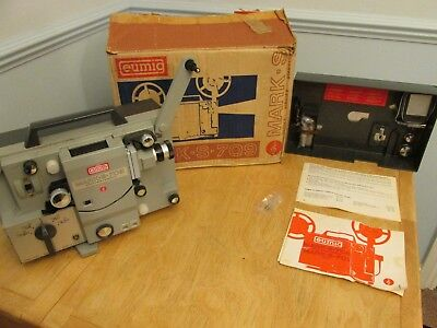 Eumig Mark S- 709 Cine Film Projector with Sound For Super 8, Single 8