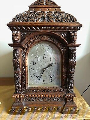 Lenzkirch eight day time and striking bracket/mantel clock circa 1905-1910