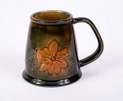 Wade Porcelain Made in Ireland Mourne Series Tankard Yellow Flowers c1970's