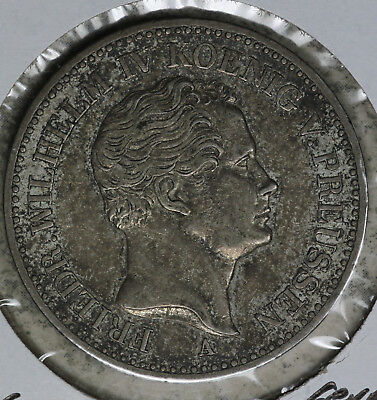 1841A German States Prussia One Thaler Silver Coin!