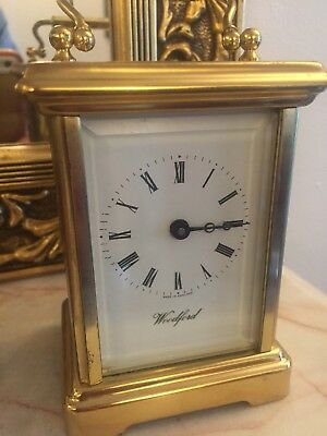 French Style 8day Carriage Clock Made In England Brass Case
