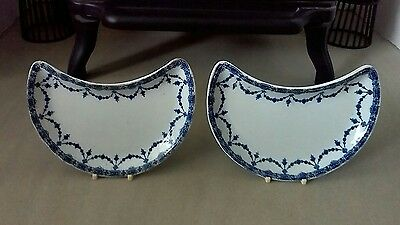 Pair Of Losol Ware Kidney Shaped Side Dishes