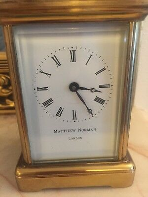 Mattew Norman Carriage Clock 8day Movement Working Keeps Excellent Time.