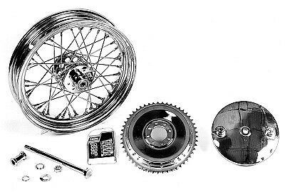 """V-Twin 52-1050 - 16"""" Wheel and Brake Drum Assembly Chrome"""