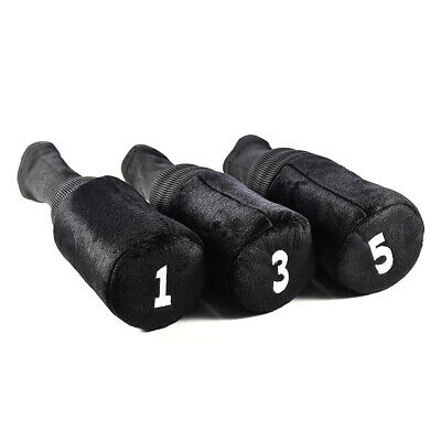 3pcs/Set Golf Club Head Covers 1 3 5 Woods Headcovers Soft Protective Sleeve New